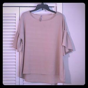 Tan oversized blouse